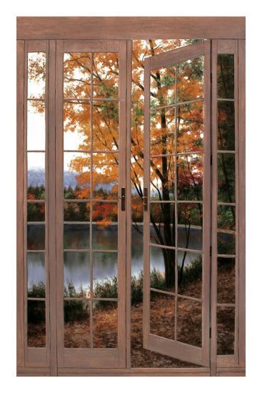 Autumn Threshold-Diane Romanello-Art Print