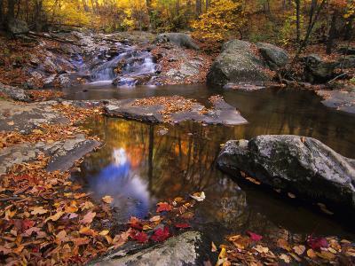 Autumn Tranquility, Upper Whiteoak Falls, Shenandoah NP, Virginia, USA-Jerry Ginsberg-Photographic Print