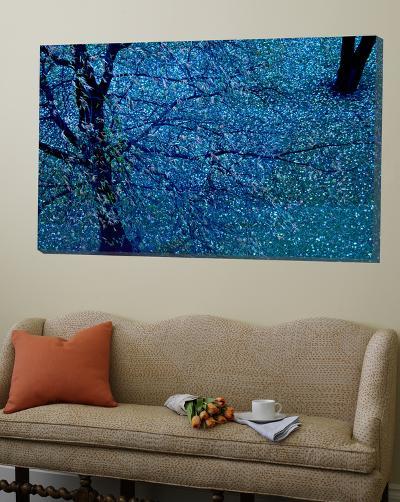 Autumn Tree in Blue, Green, and Purple-Robert Cattan-Loft Art