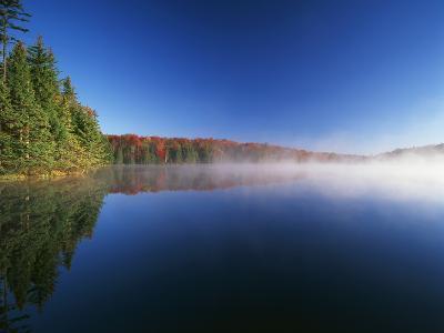Autumn Trees, Adams Reservoir, Woodford State Park, Vermont, USA-Adam Jones-Photographic Print