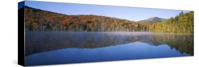 Autumn Trees Reflected in Heart Lake, Adirondack State Park, New York State, USA
