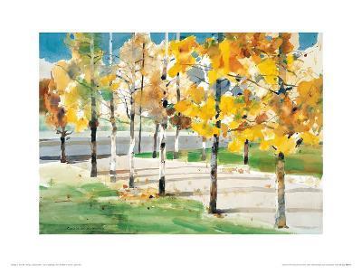Autumn Trees-Wai Hin Law-Art Print