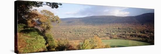 Autumn View from Hildene, Manchester, Vermont, USA-Walter Bibikow-Stretched Canvas Print