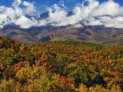 Autumn View of the Southern Appalachian Mountains from the Blue Ridge Parkway, North Carolina, USA-Adam Jones-Photographic Print