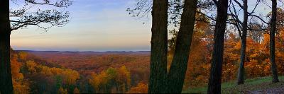 Autumn vista in Brown County State Park, Indiana, USA-Anna Miller-Photographic Print