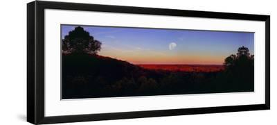 Autumn vista in Brown County State Park, Indiana, USA-Anna Miller-Framed Photographic Print
