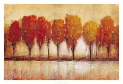 Autumn Water's Edge-Tim OToole-Art Print