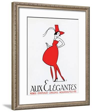 Aux Elegantes--Framed Art Print