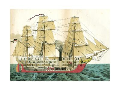 Auxiliary Steamship--Giclee Print