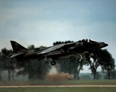AV-8 Harrier (Taking Off) Art Poster Print
