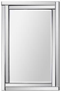 Ava All Glass Dimensional Mirror