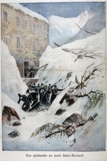Avalanche at Mont Saint-Bernard, Switzerland, 1897-Henri Meyer-Giclee Print