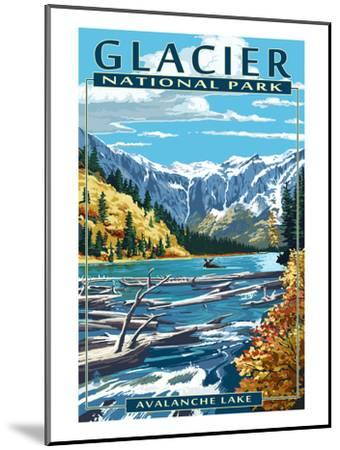 Avalanche Lake - Glacier National Park, Montana-Lantern Press-Mounted Art Print