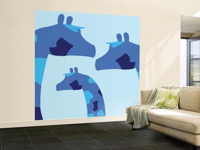 Blue Giraffes by Avalisa