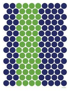 Blue Green Dots by Avalisa