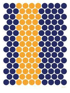 Blue Orange Dots by Avalisa