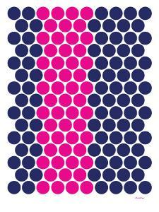 Blue Pink Dots by Avalisa
