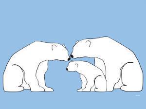 Blue Polar Bears by Avalisa