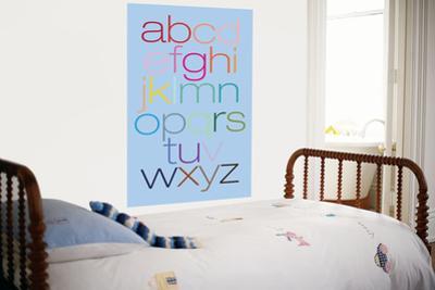 Blue Rainbow Alphabet