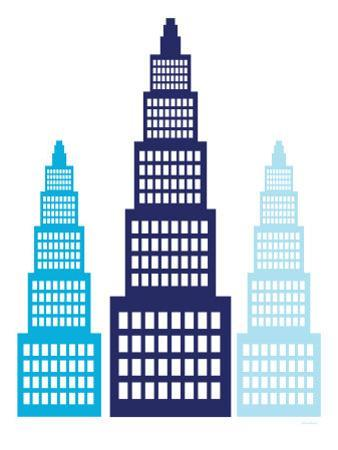 Blue Skyscrapers by Avalisa