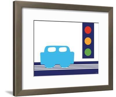 Blue Stop Light