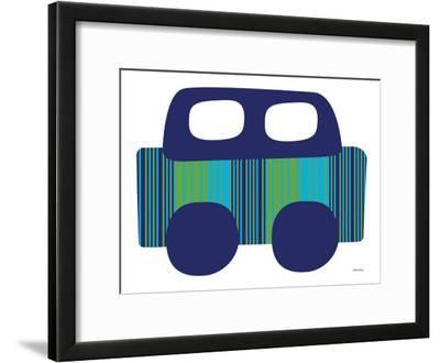 Blue Stripe Car by Avalisa