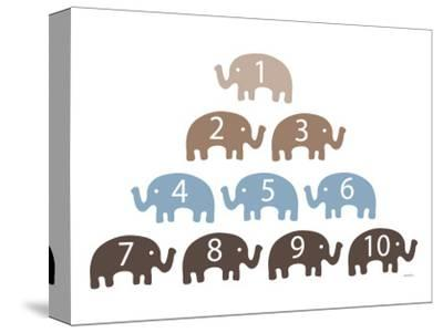 Brown Counting Elephants by Avalisa
