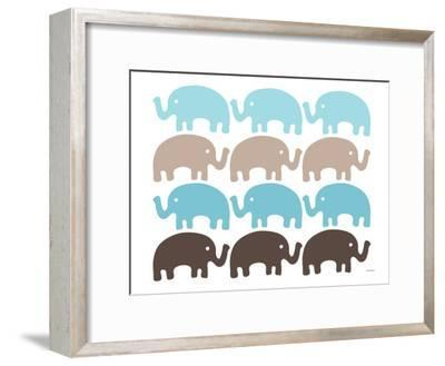 Brown Elephant Family by Avalisa