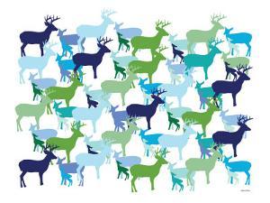 Cool Deer Pattern by Avalisa