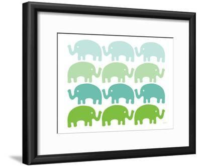 Green Elephant Family by Avalisa