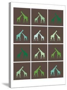 Green Giraffe Squares by Avalisa