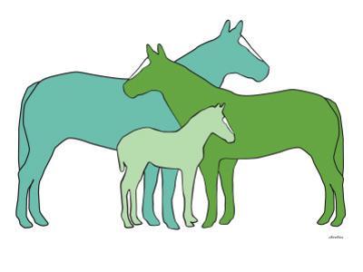 Green Horse Herd by Avalisa