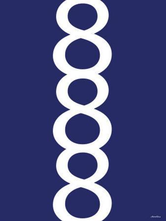 Navy Figure 8 Design by Avalisa