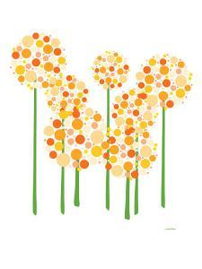 Orange Alliums by Avalisa
