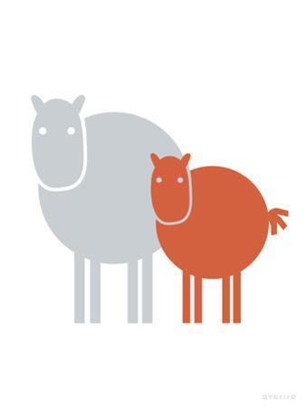 Orange Baby Horse by Avalisa