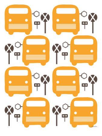 Orange Bus Stop by Avalisa