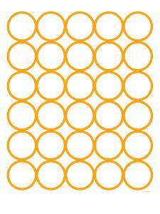 Orange Circles by Avalisa