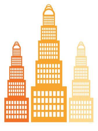 Orange Skyscrapers2 by Avalisa