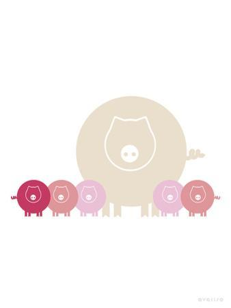 Pink Baby Pigs by Avalisa