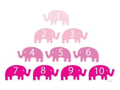 Pink Counting Elephants by Avalisa