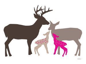 Pink Deer by Avalisa
