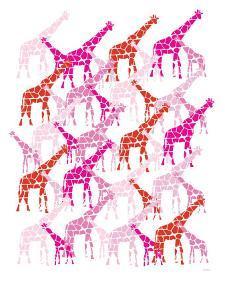 Pink Giraffe Pattern by Avalisa