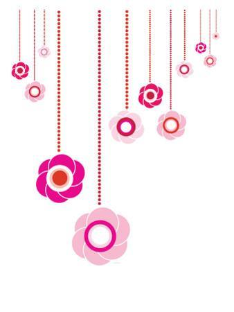 Pink Hanging Flowers by Avalisa