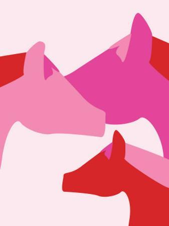 Pink Horses by Avalisa