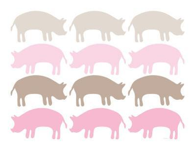 Pink Pig Family by Avalisa