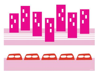 Pink Subway by Avalisa