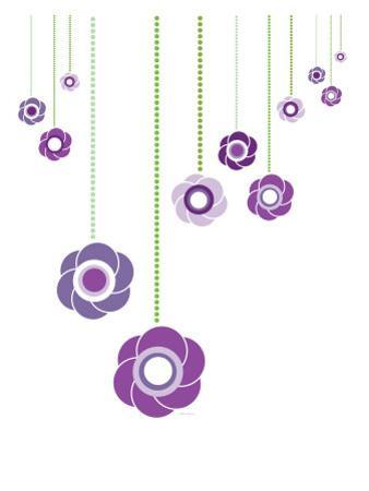Purple Hanging Flowers by Avalisa