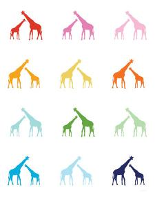Rainbow Giraffes by Avalisa