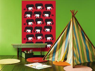 Red Elephant Pattern