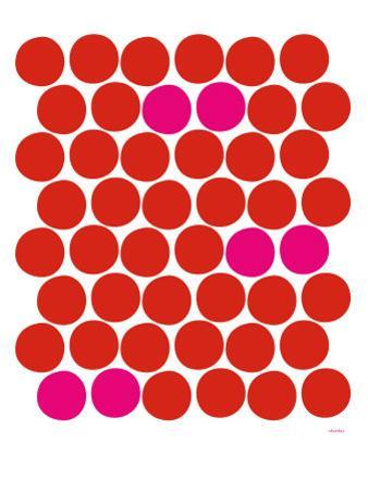 Red Pink Dots by Avalisa